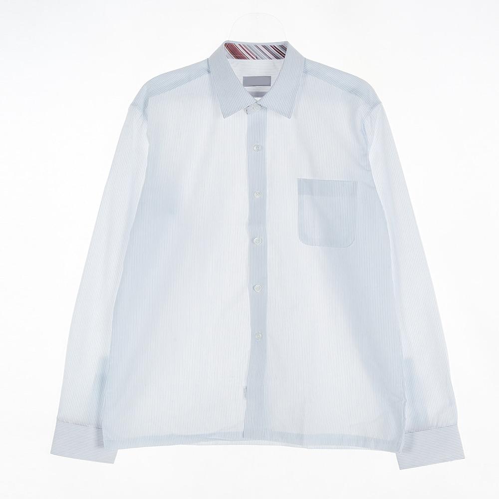 [교복아울렛] 사선 컬러 각카라 남자 셔츠 (장기고)