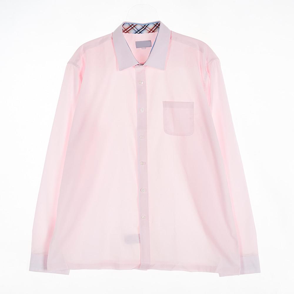 [교복아울렛] 핑크 각카라 남자 셔츠 (대진고 백석고)