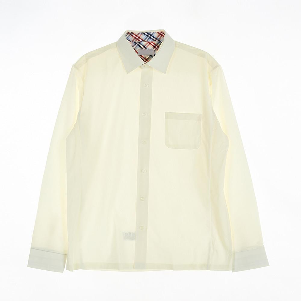 [교복아울렛] 진베이지 와이셔츠 남자 교복 학생복