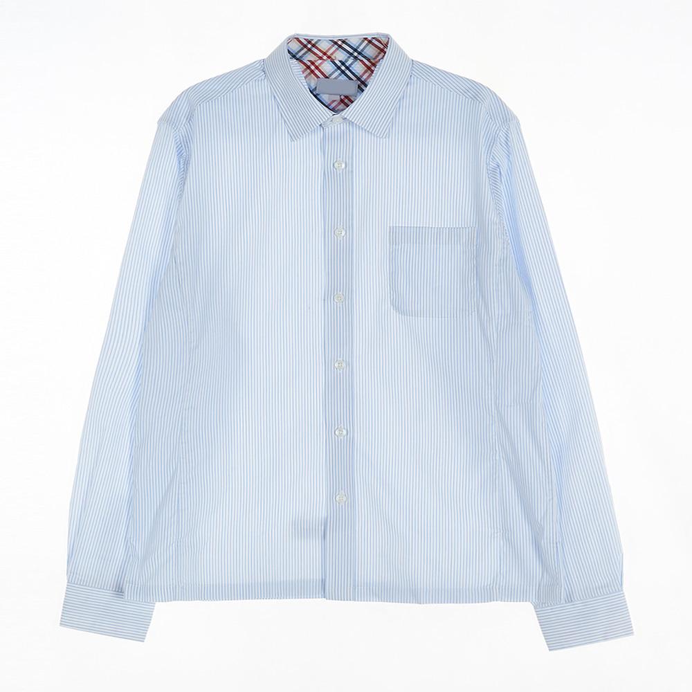 [교복아울렛] 세로 스트라이프 남자 셔츠 (거원중)