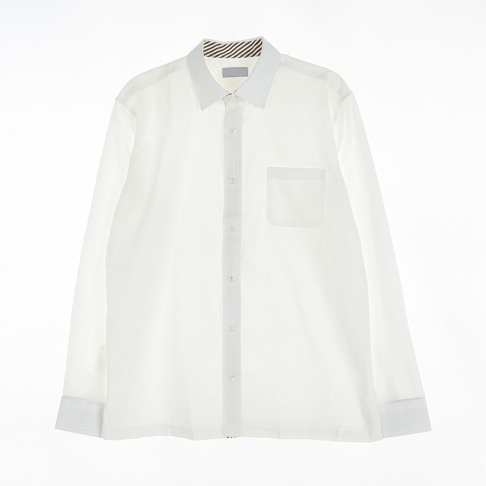 [교복아울렛] 아이보리 각카라 남자 와이셔츠(선사고)