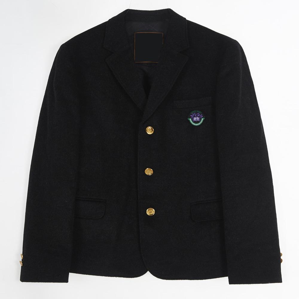 [교복아울렛] 쓰리버튼 골드 포인트 남자 자켓 교복