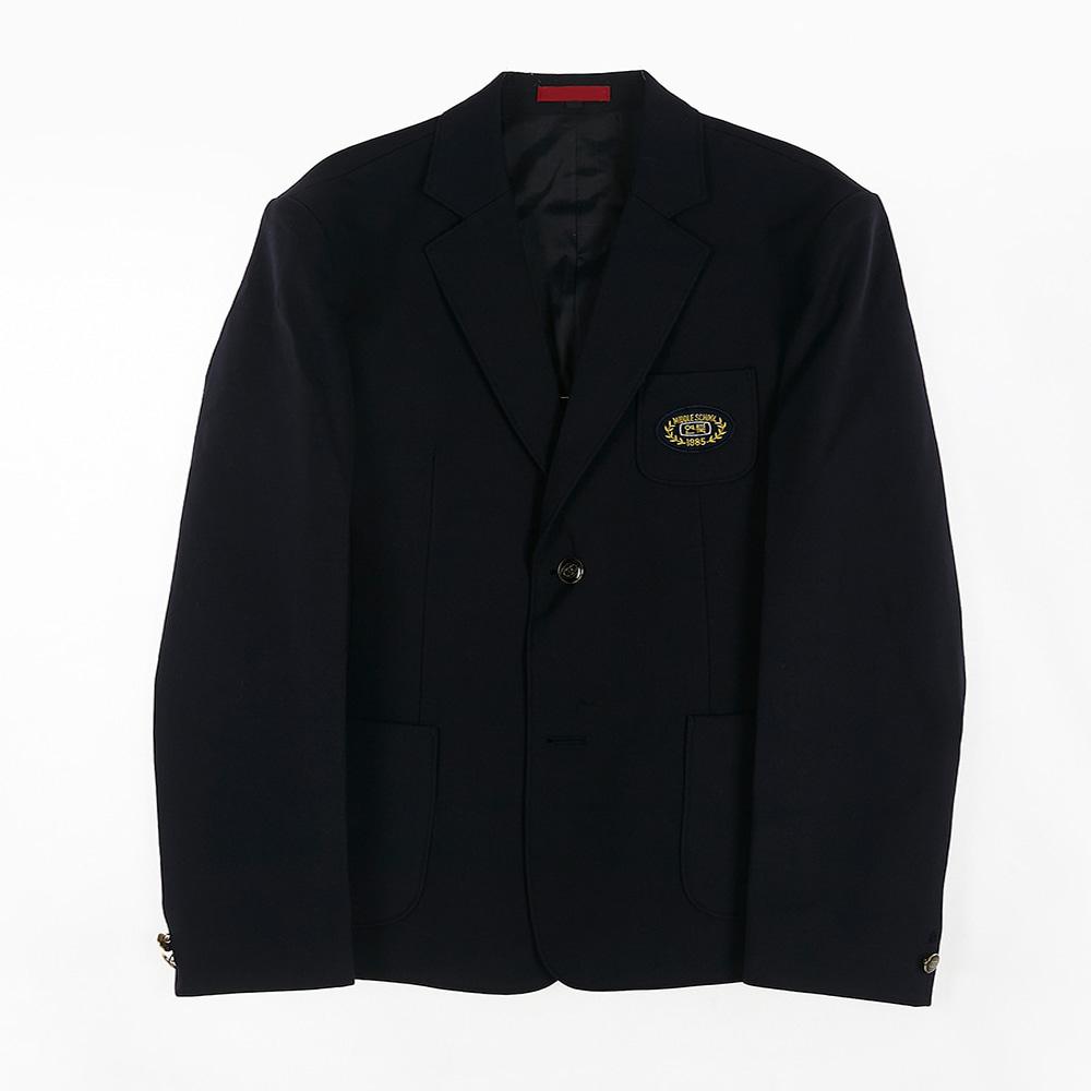 [교복아울렛] 심플 원단추 남자 자켓 (연북중) 교복