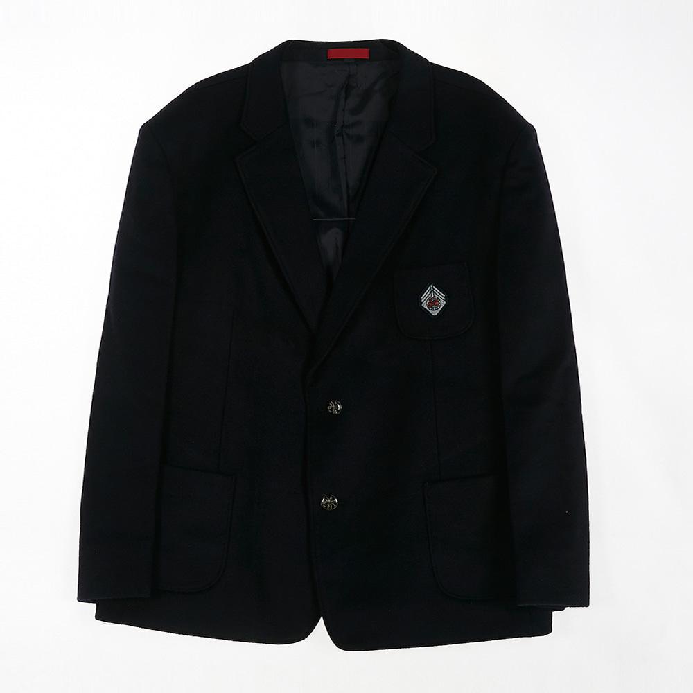 [교복아울렛] 심플 단추 네이비 남자 자켓 (중암중)
