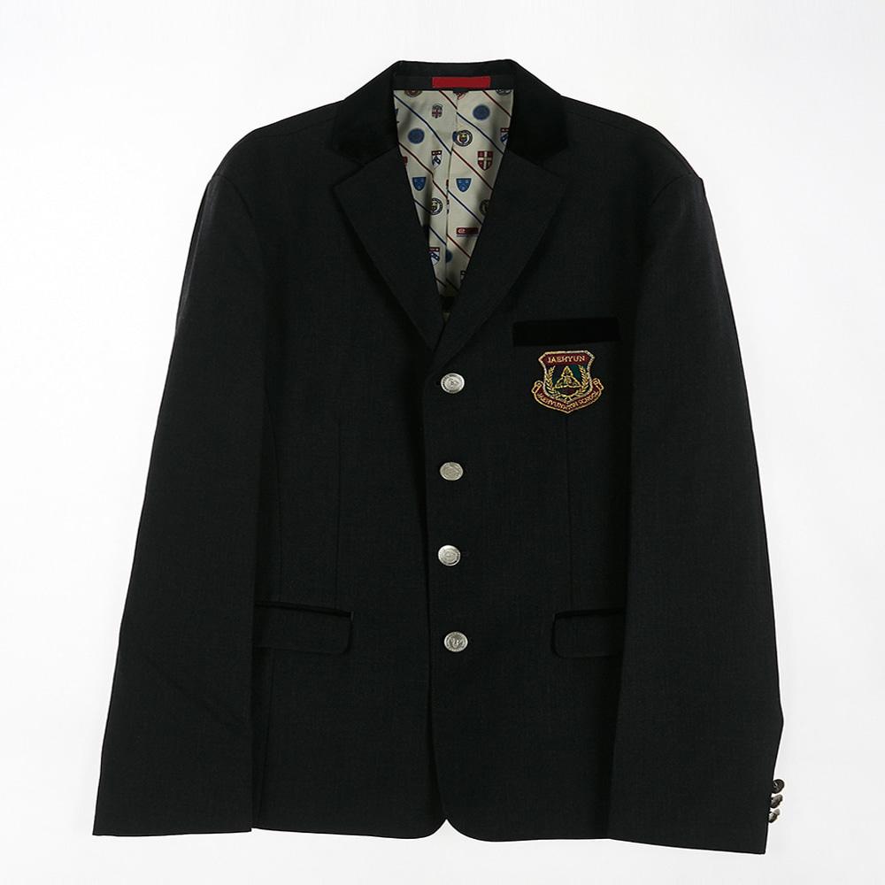 [교복아울렛] 4단추 차콜 남자 자켓 (재현고) 교복