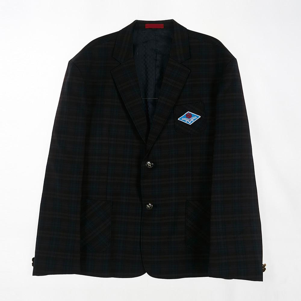 [교복아울렛] 브라운 네이비체크 남자 자켓 (반포고)