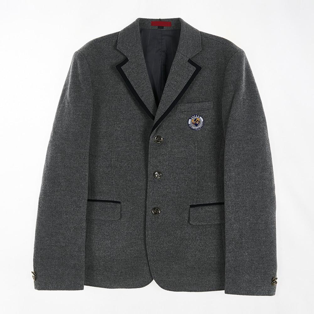 [교복아울렛] 그레이 카라블랙 라인 남자 자켓 교복