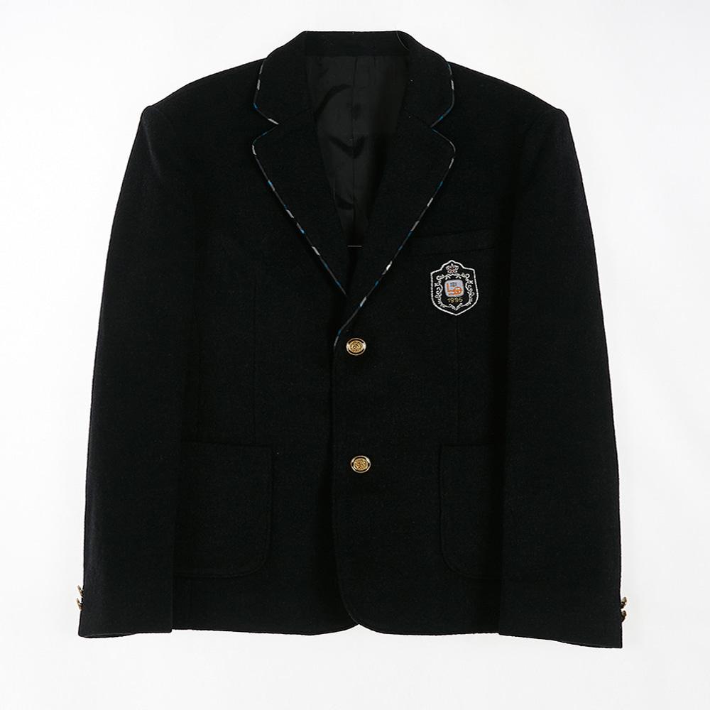 [교복아울렛] 금장단추 체크라인 카라 남자 자켓 교복