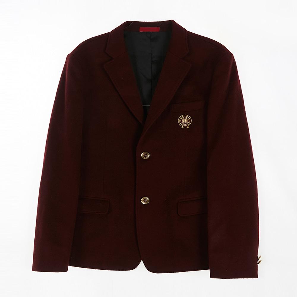 [교복아울렛] 와인 투버튼 남자 자켓 (보인고) 교복