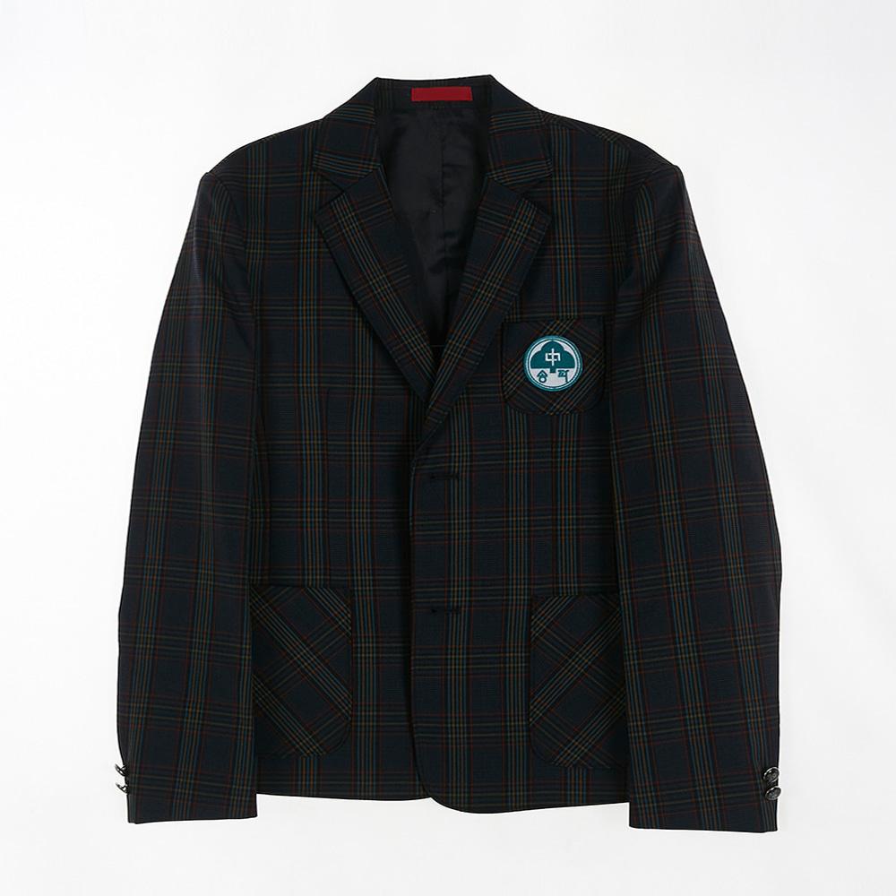 [교복아울렛] 그린 체크 남자 자켓 (송파중) 교복