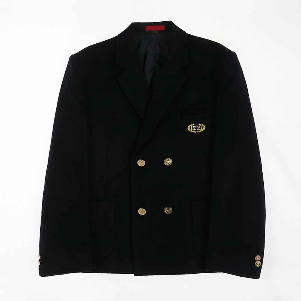[교복아울렛] 골드 더블버튼 남자 자켓 (숭문중) 교복