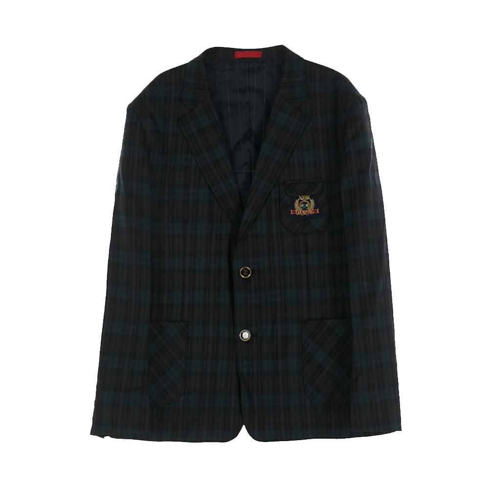 [교복아울렛] 그린체크 남자자켓 (세륜중) 교복 학교