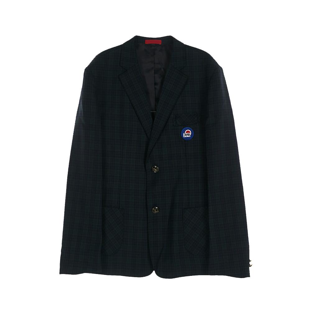 [교복아울렛] 투버튼 체크 남자자켓 (가락고) 교복