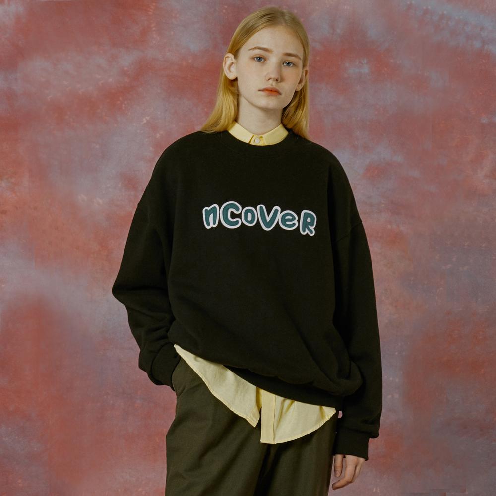 Signature patch logo sweatshirt-black