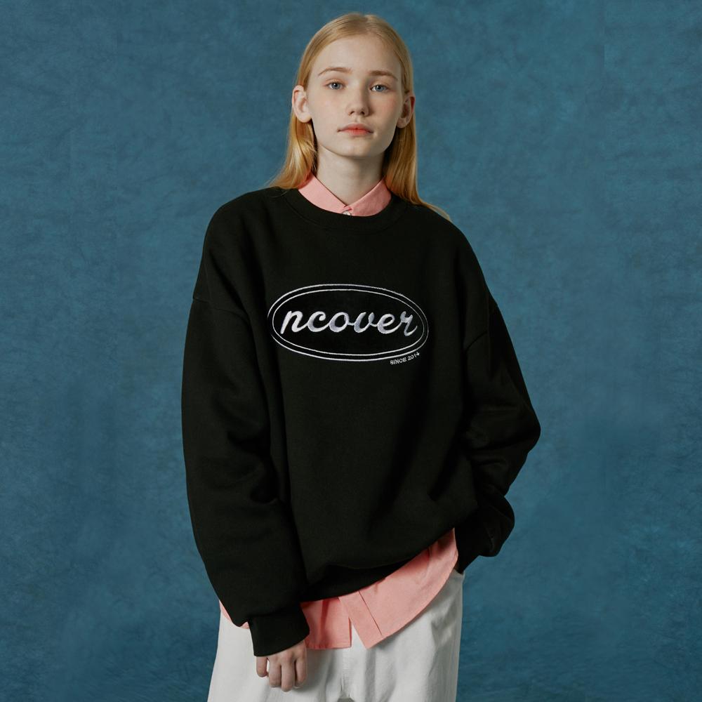 Original velvet patch sweatshirt-black