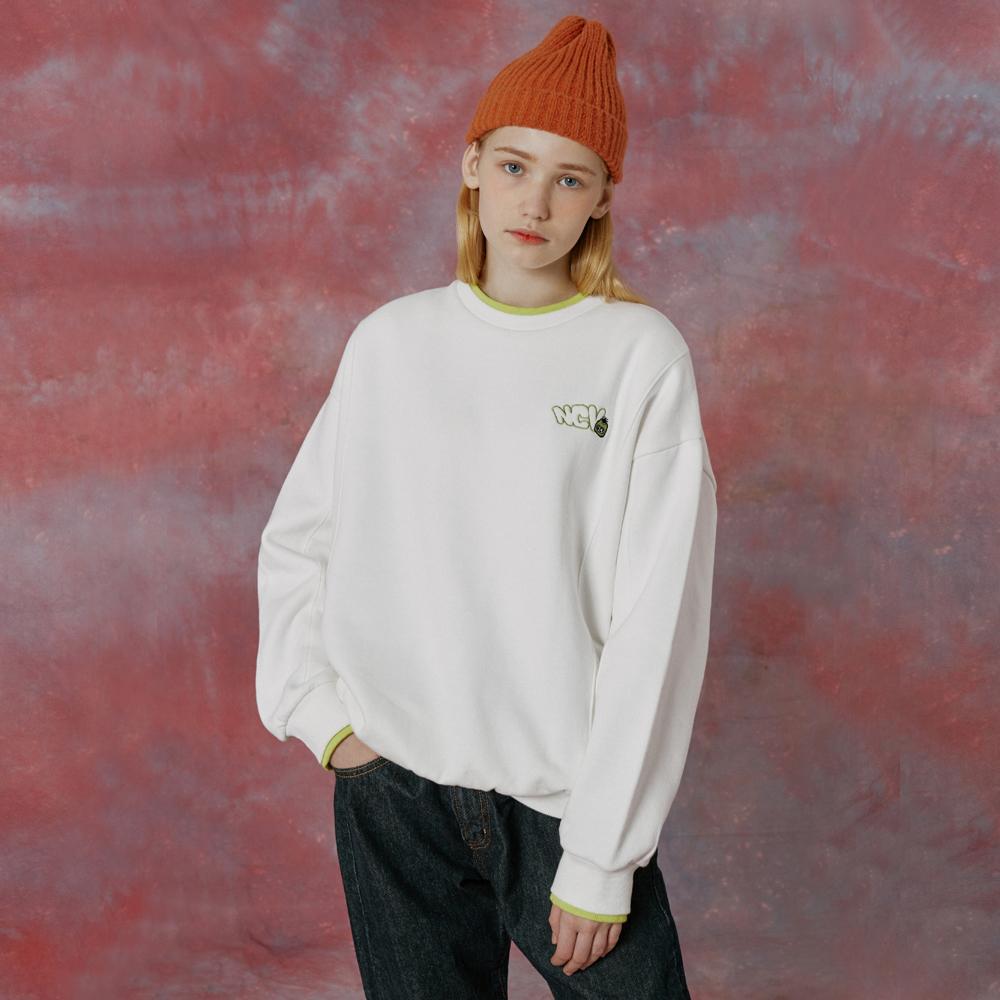 Ncv banding point sweatshirt-white