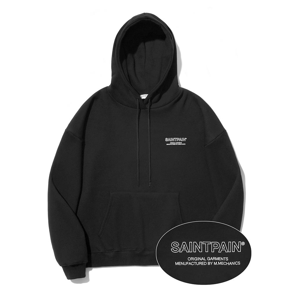 [패밀리세일]SP Out Line Logo Hood-Black