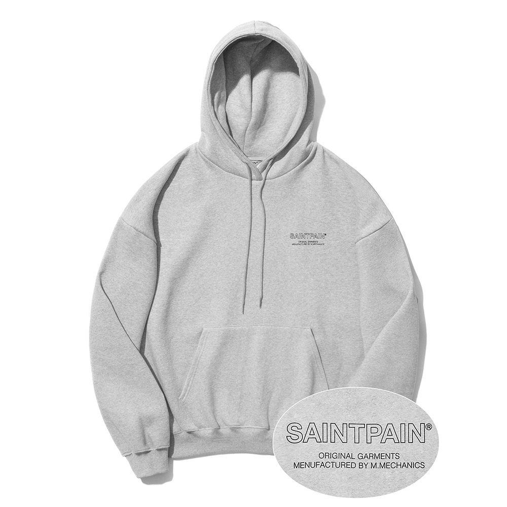 SP Out Line Logo Hood-Gray