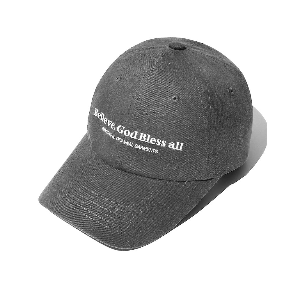 SP Believe Washing Ball Cap-Charcoal