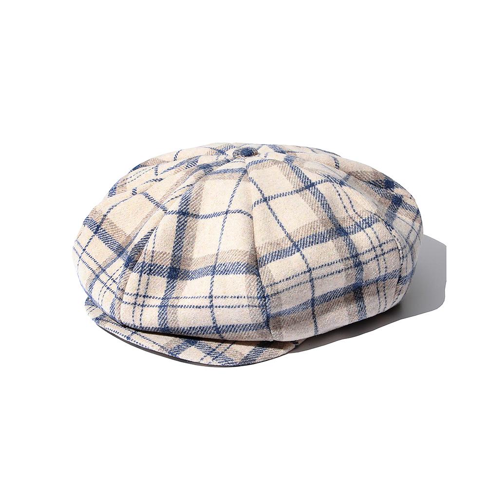 SP Muse Check Newsboy Hat-Beige