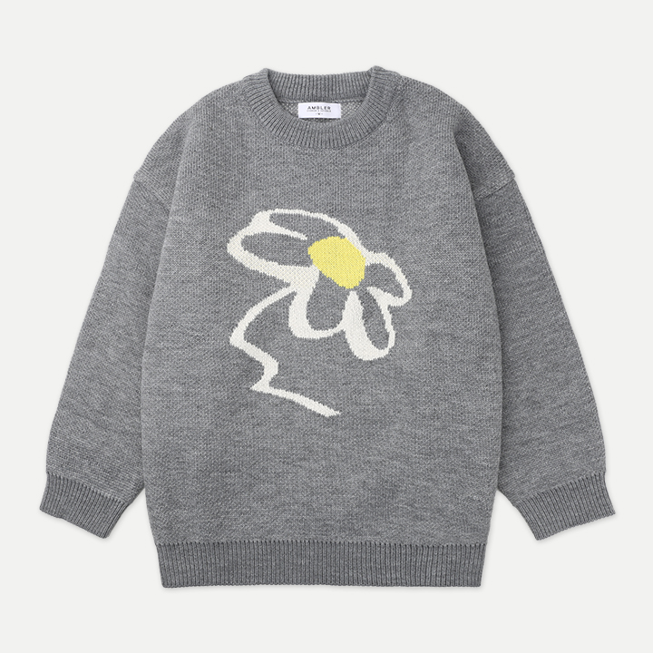 [엠블러]AMBLER 20FW 신상 오버핏 니트 AKN102-멜란지