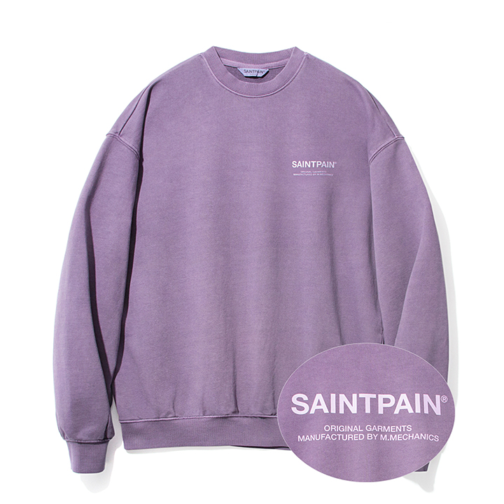[패밀리세일][단독할인]SP PIGMENT VRTN LOGO CREW NECK-PURPLE