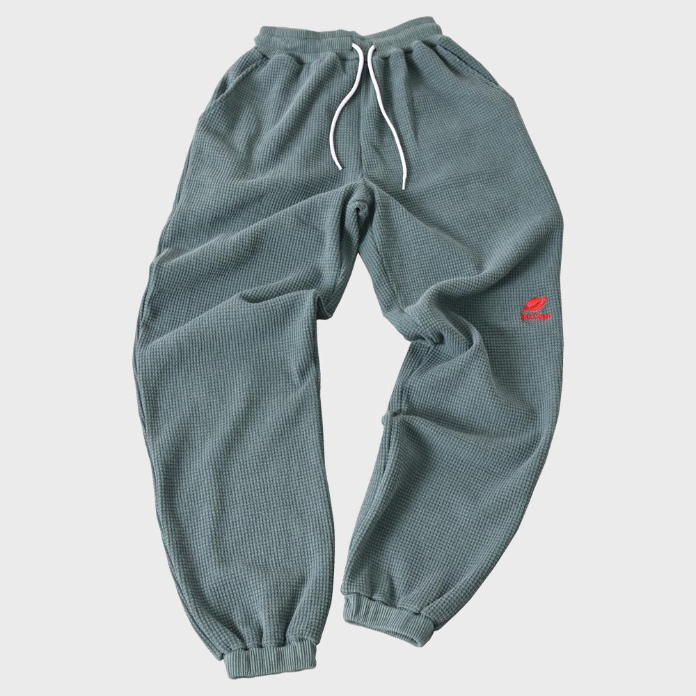 [단독할인][FHBG] FOLCOM WAFFLE LONG PANTS (GREEN)