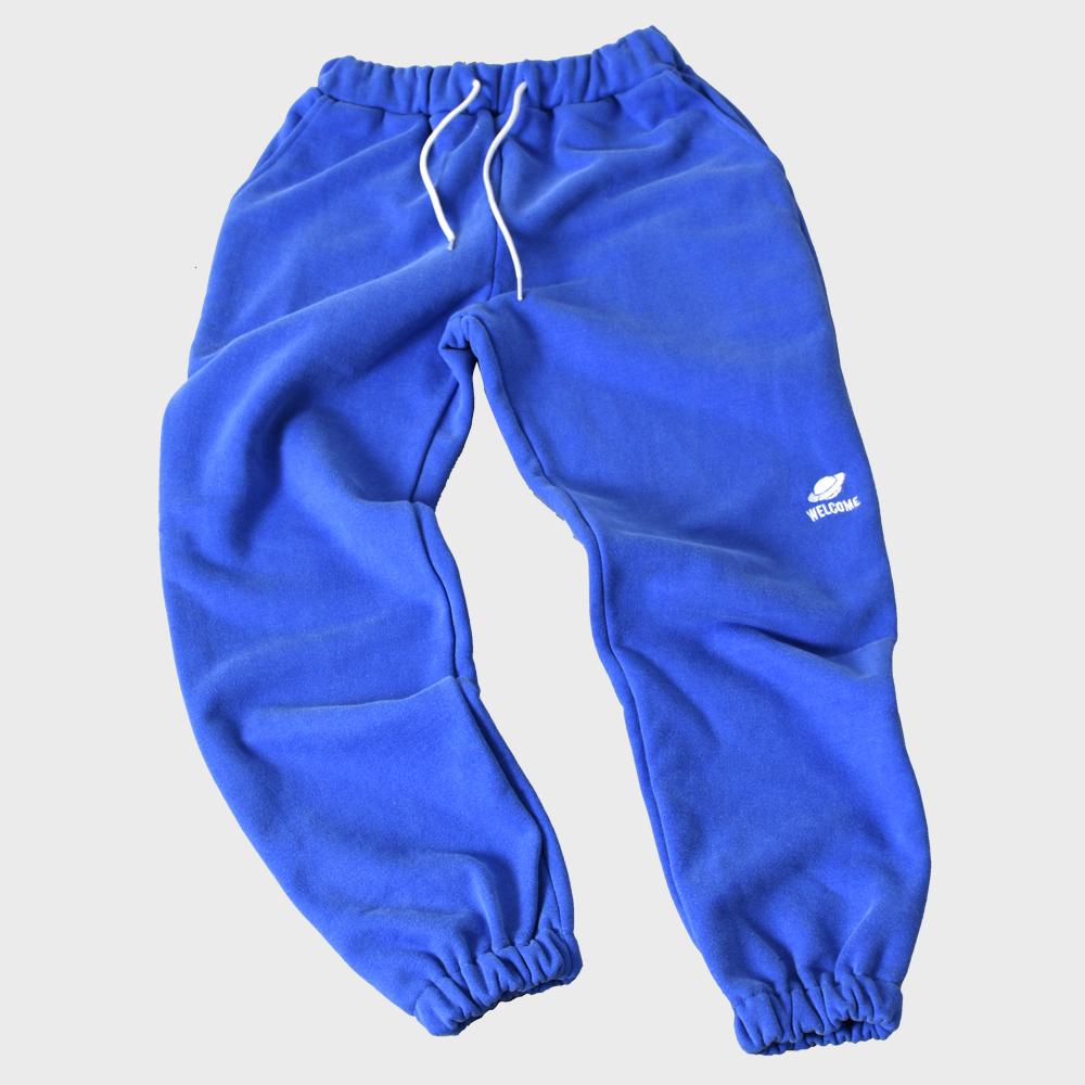 [FHBG] DRAIN SWEAT LONG PANTS (BLUE)