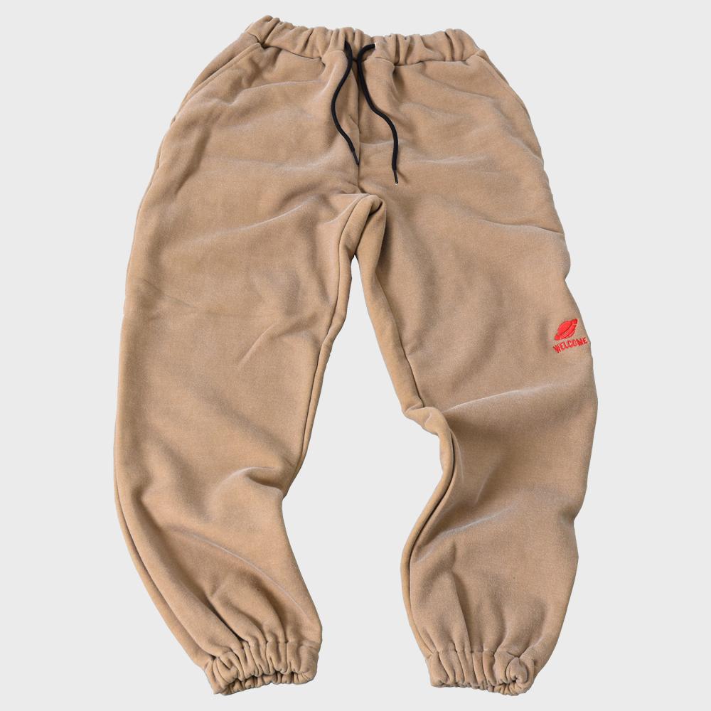 [FHBG] DRAIN SWEAT LONG PANTS (BEIGE)
