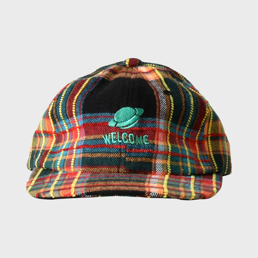 [FHBG] FOLCOM CHECK FLAT CAP (BLACK)