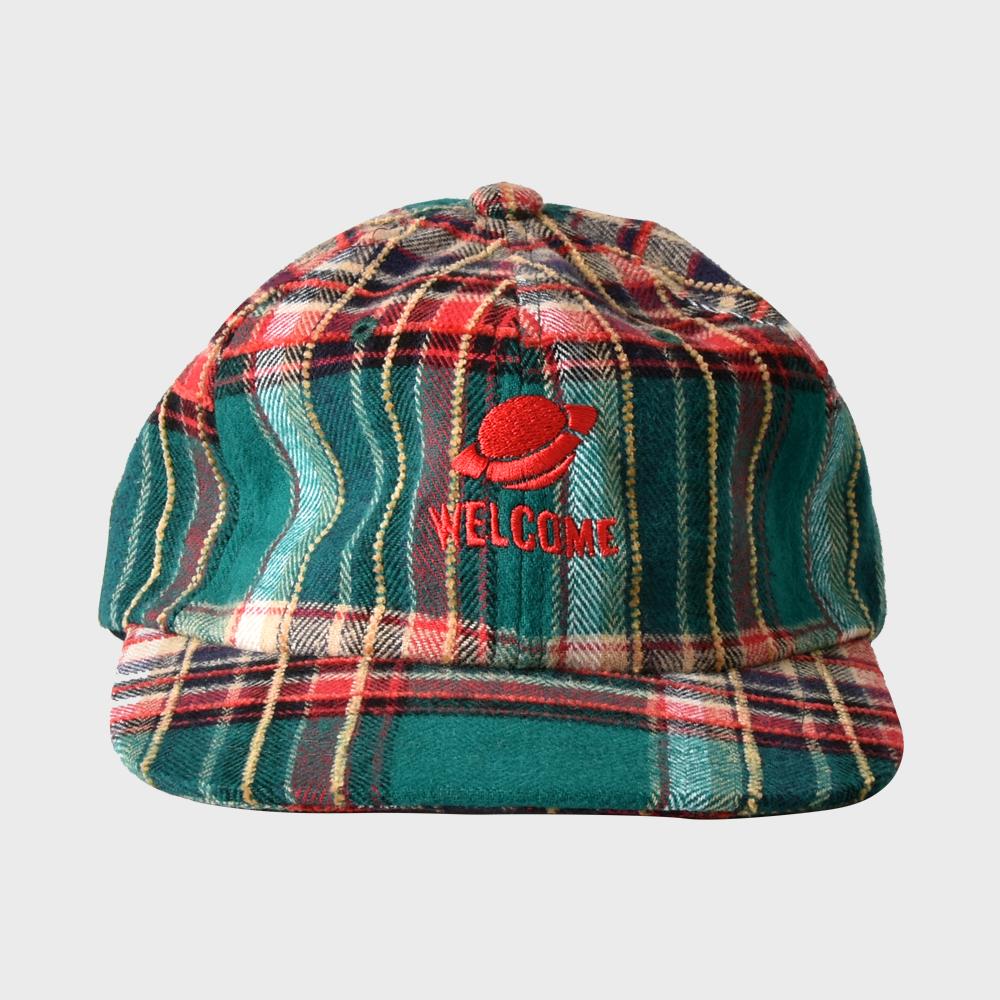 [FHBG] FOLCOM CHECK FLAT CAP (GREEN)