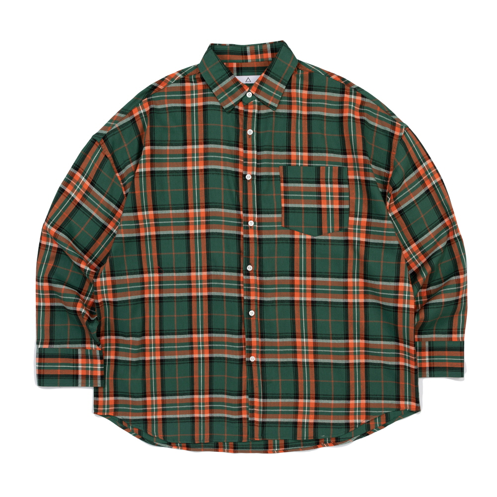 CB ACON TOM CHECK OVER FIT SHIRT (GREEN)