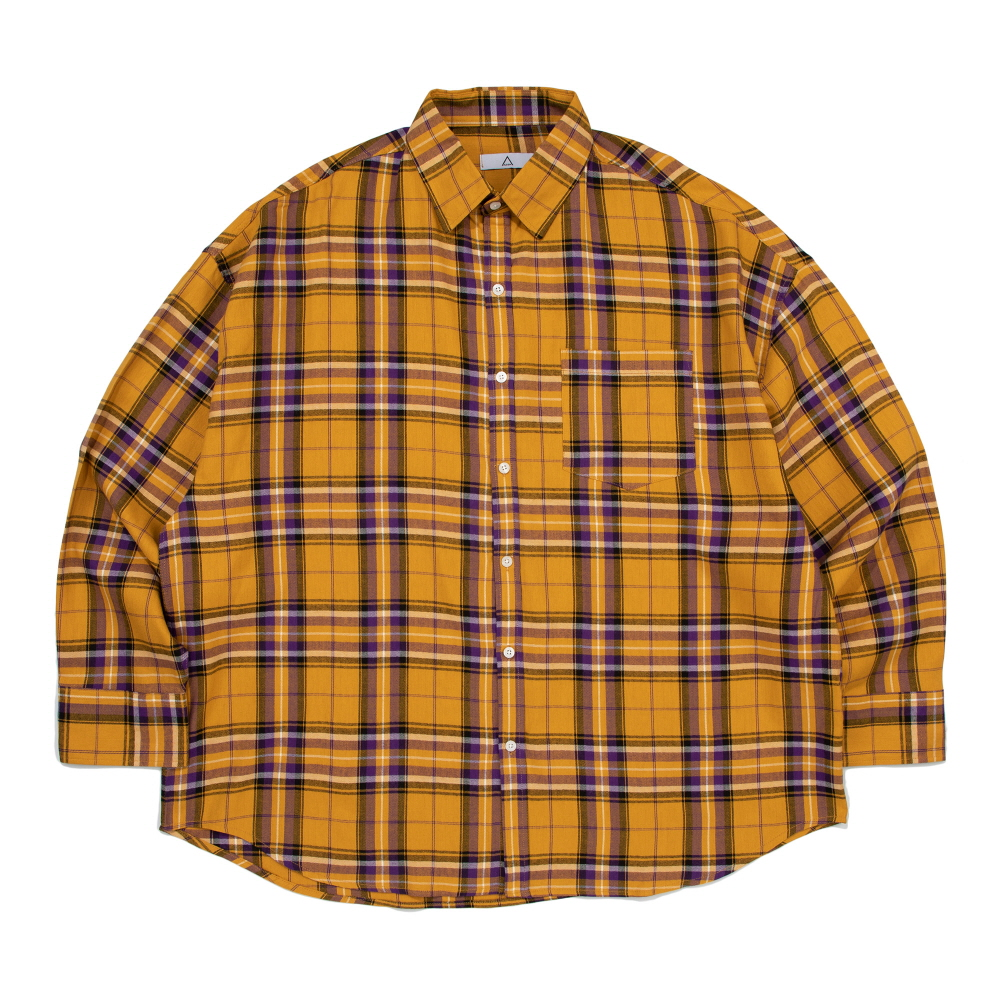 CB ACON TOM CHECK OVER FIT SHIRT (YELLOW)