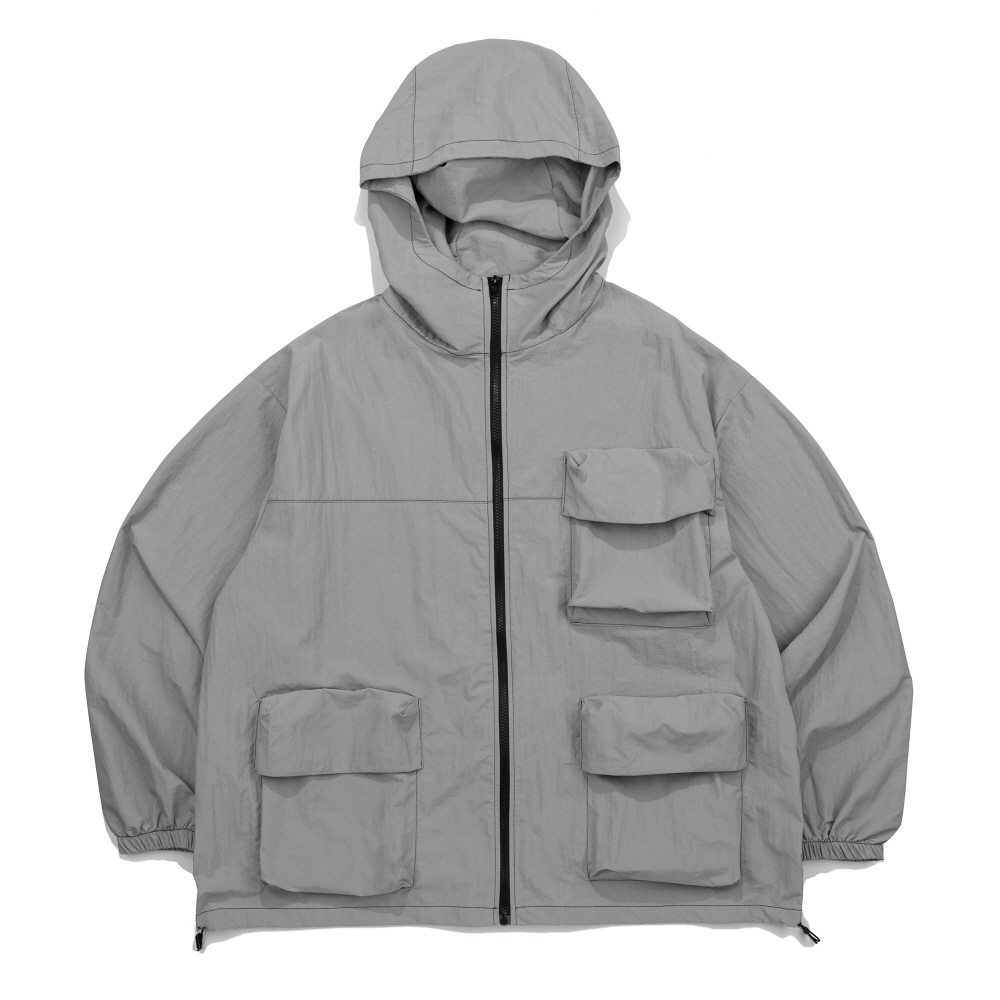 CB 3D POCKET WIND BREAKER (GRAY)