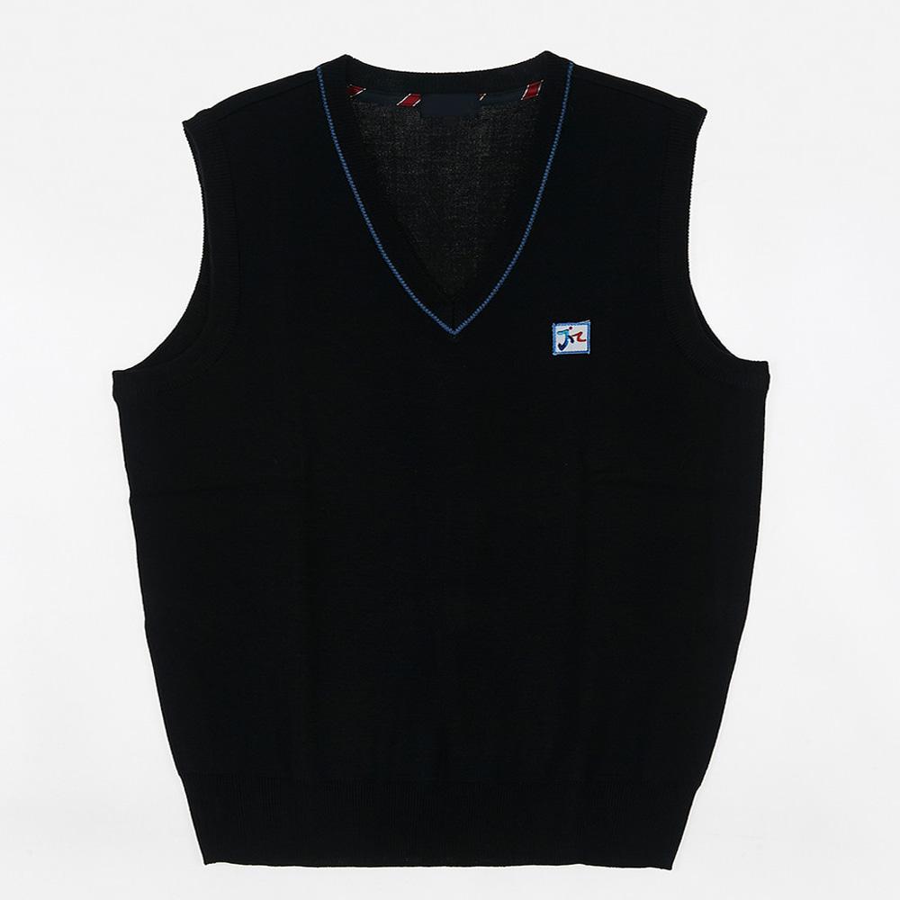 [교복아울렛] 블루 라인 조끼 (문정고) 교복 학생복