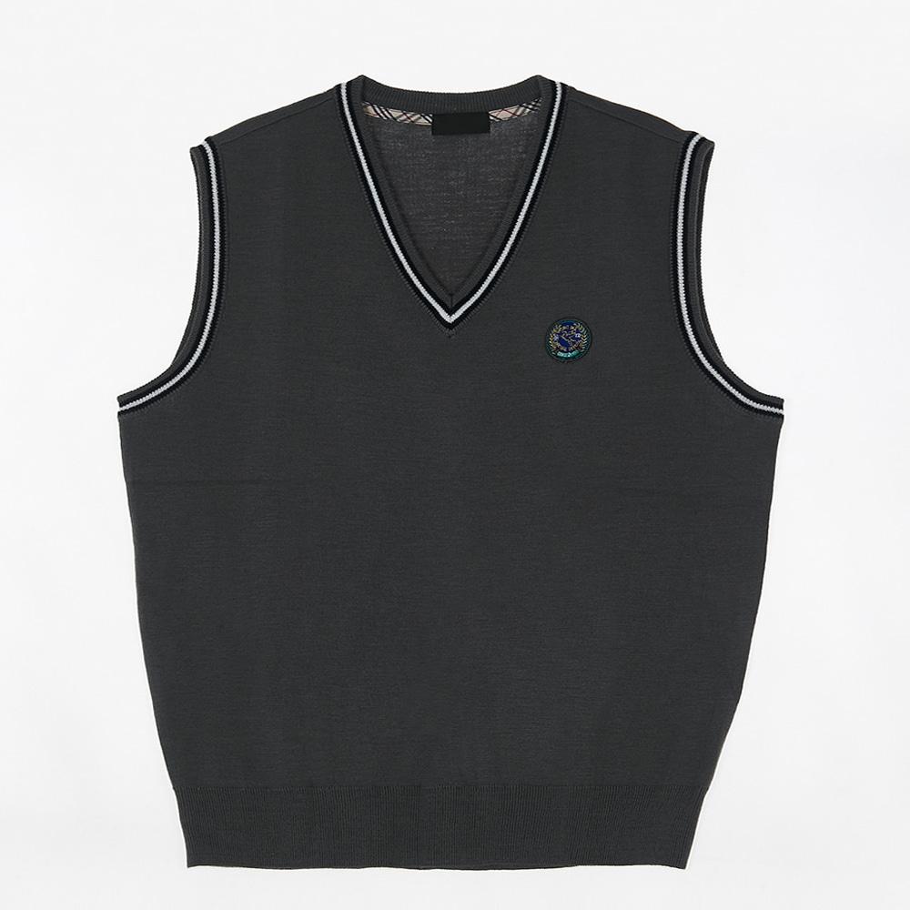 [교복아울렛] 화이트 라인 조끼 (용마중) 교복 학생복