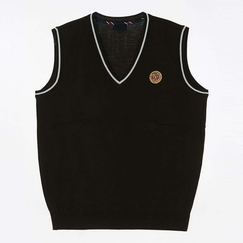 [교복아울렛] 화이트 한줄 조끼 (서울관공과) 교복