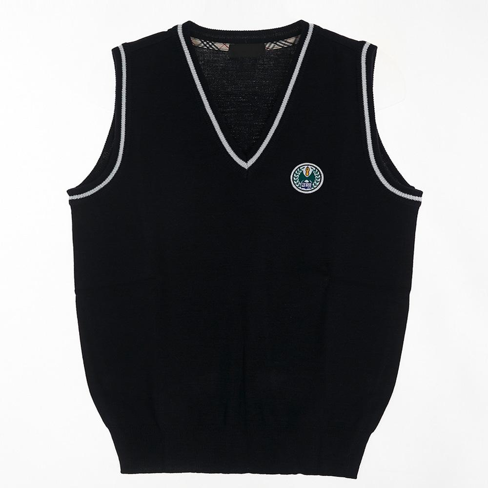 [교복아울렛] 네이비 화이트 라인 조끼 (백석고) 교복