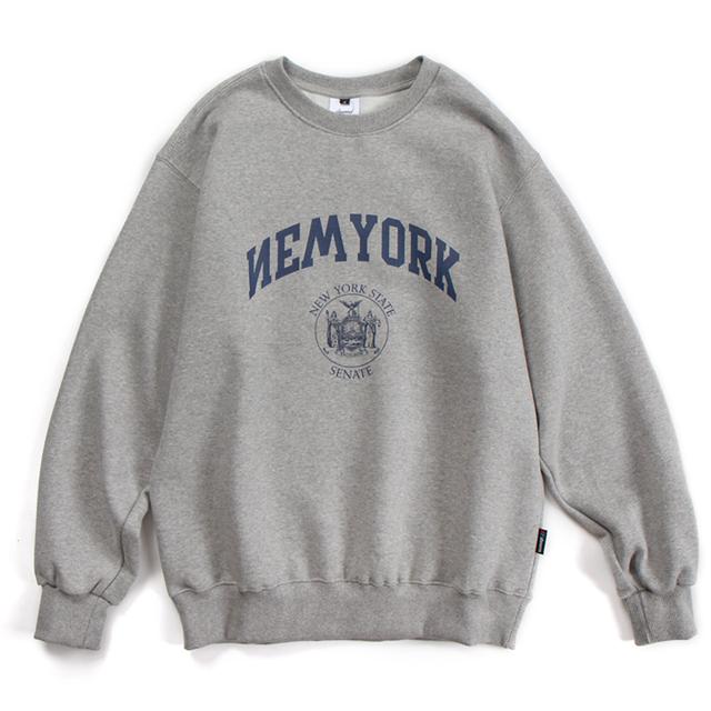NYC20 CREWNECK (GRAY)