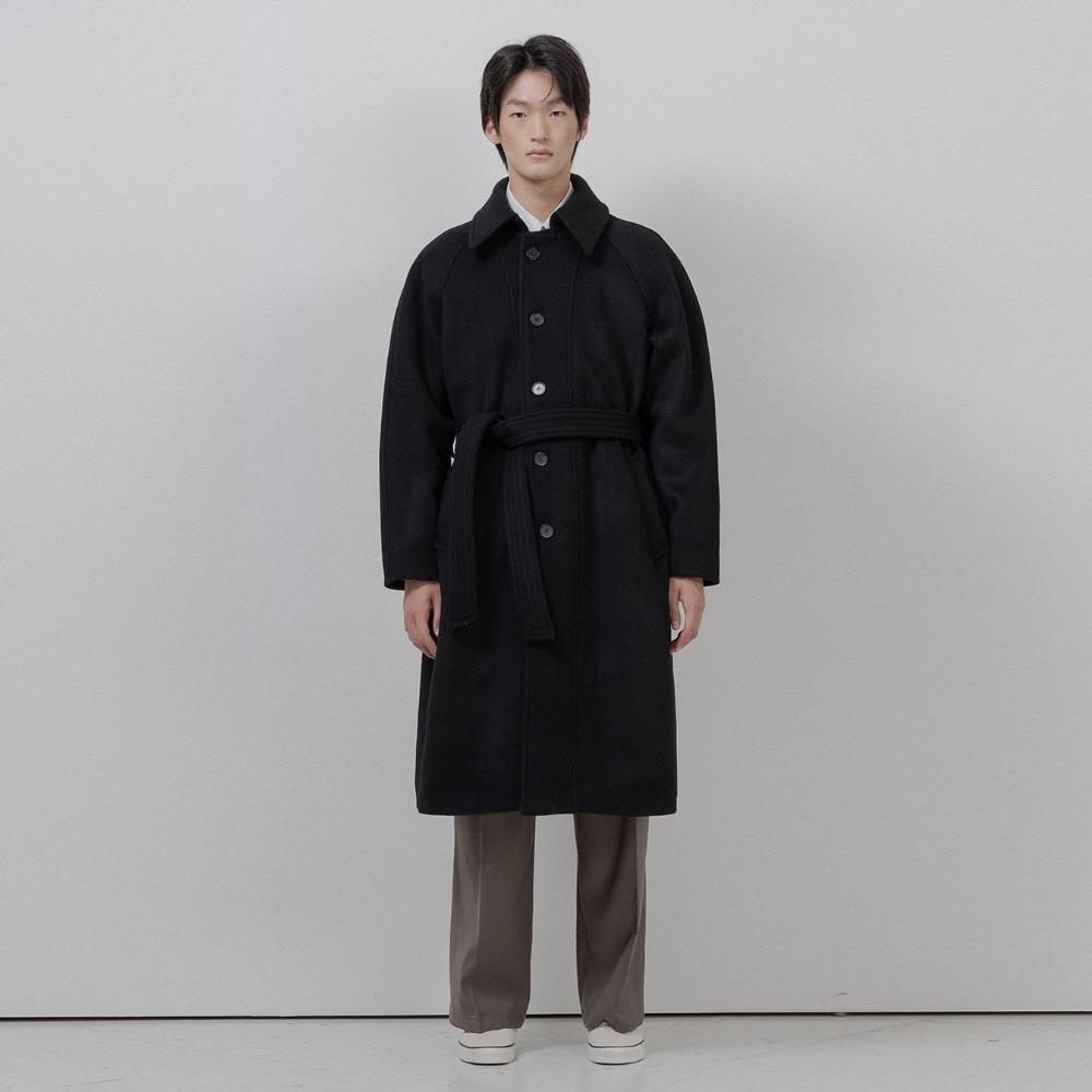 BF wool raglan mac coat black