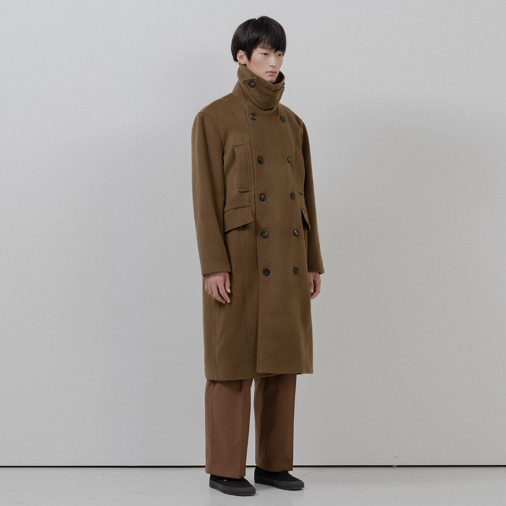 BF two pocket double coat mustard