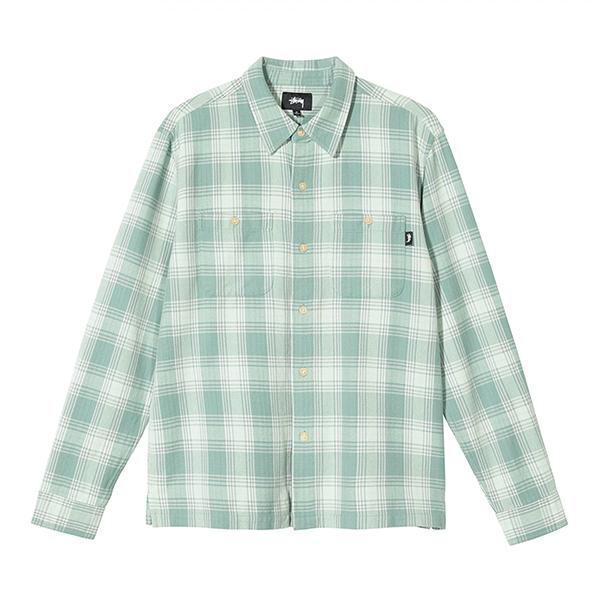 [해외]스투시 비치 플레드 셔츠 그린
