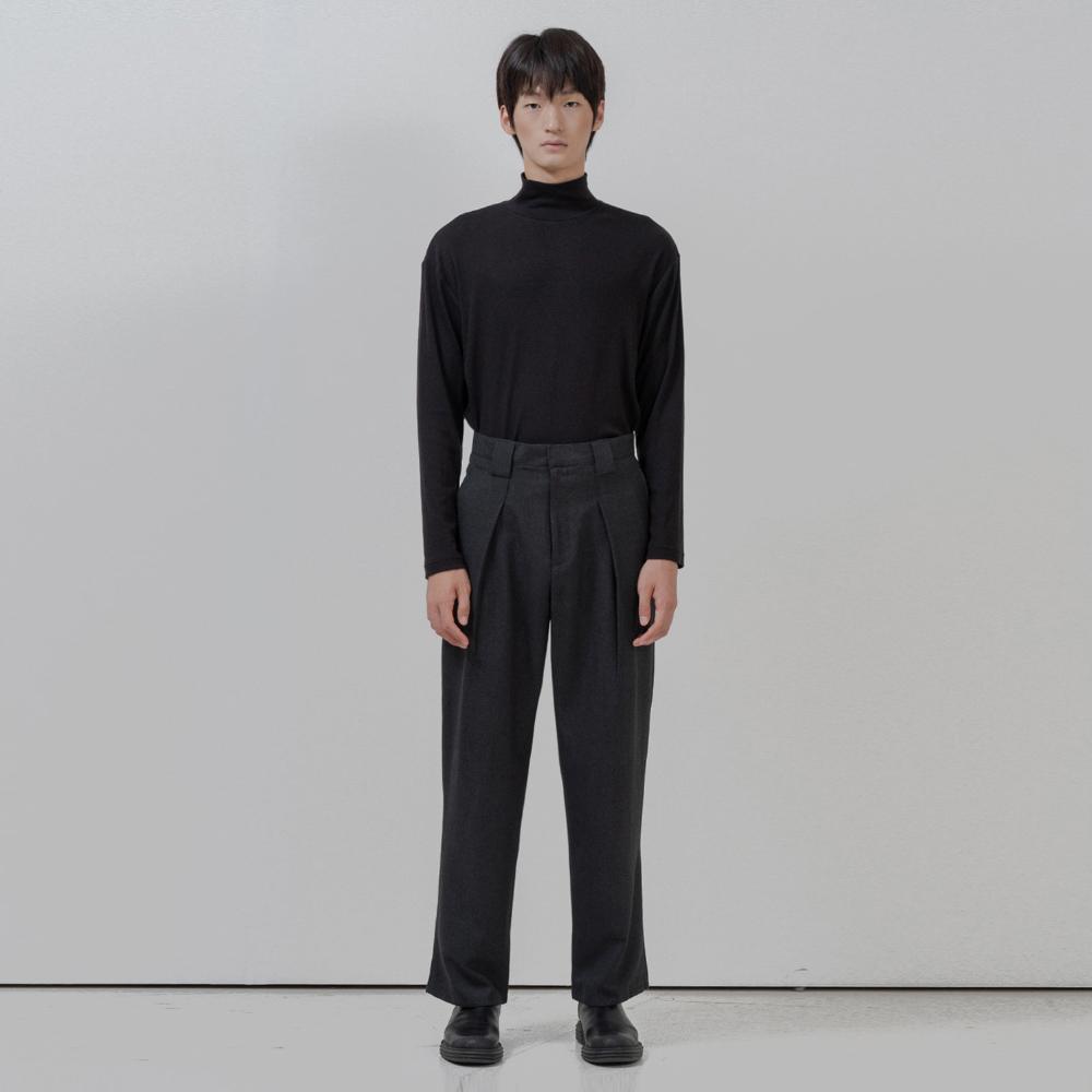 BF mock neck polar knit black