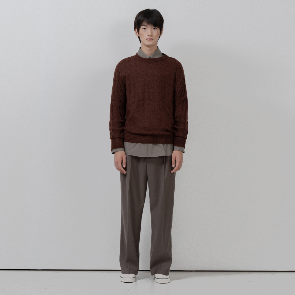 BF loosefit twisted knit brown
