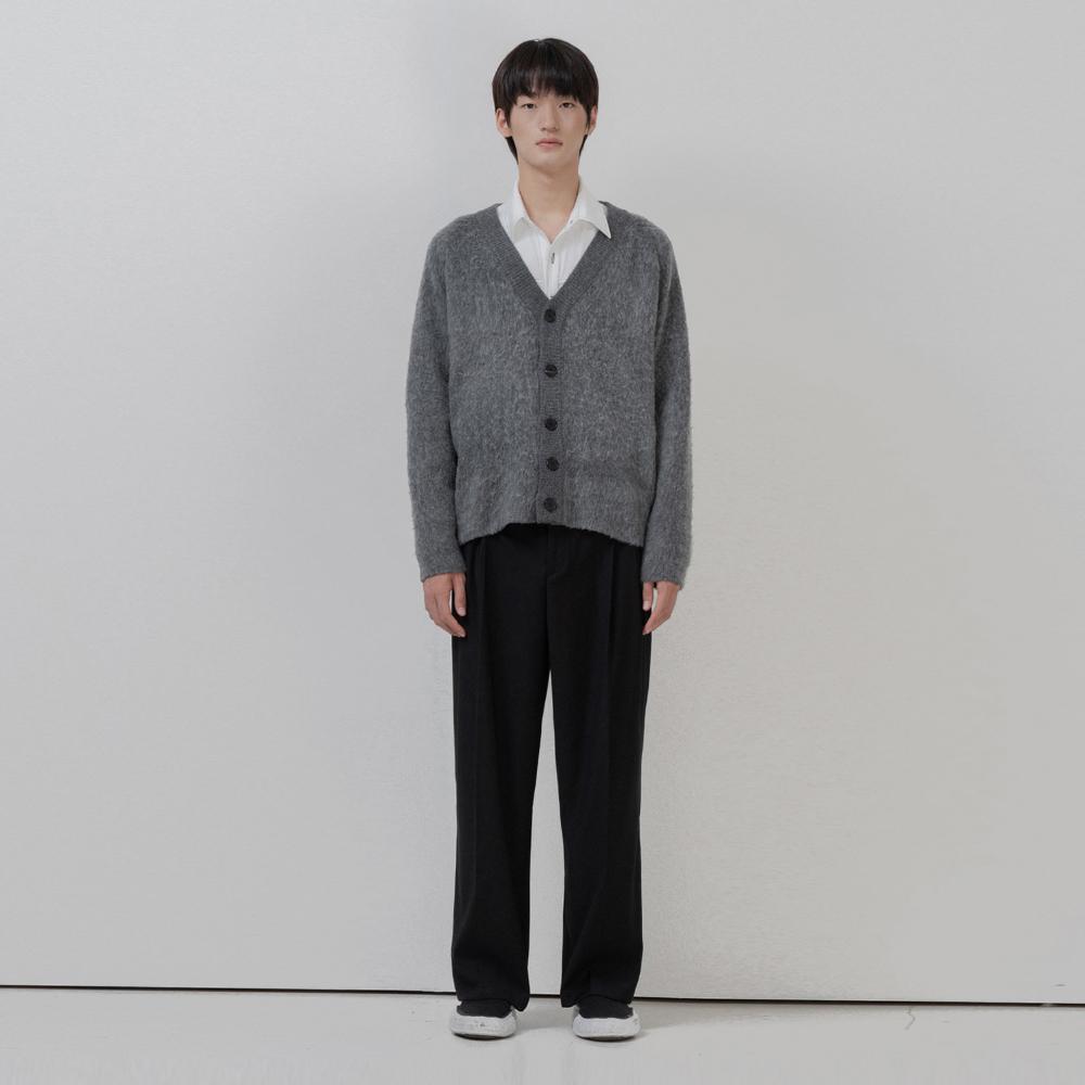BF brushed soft cardigan gray