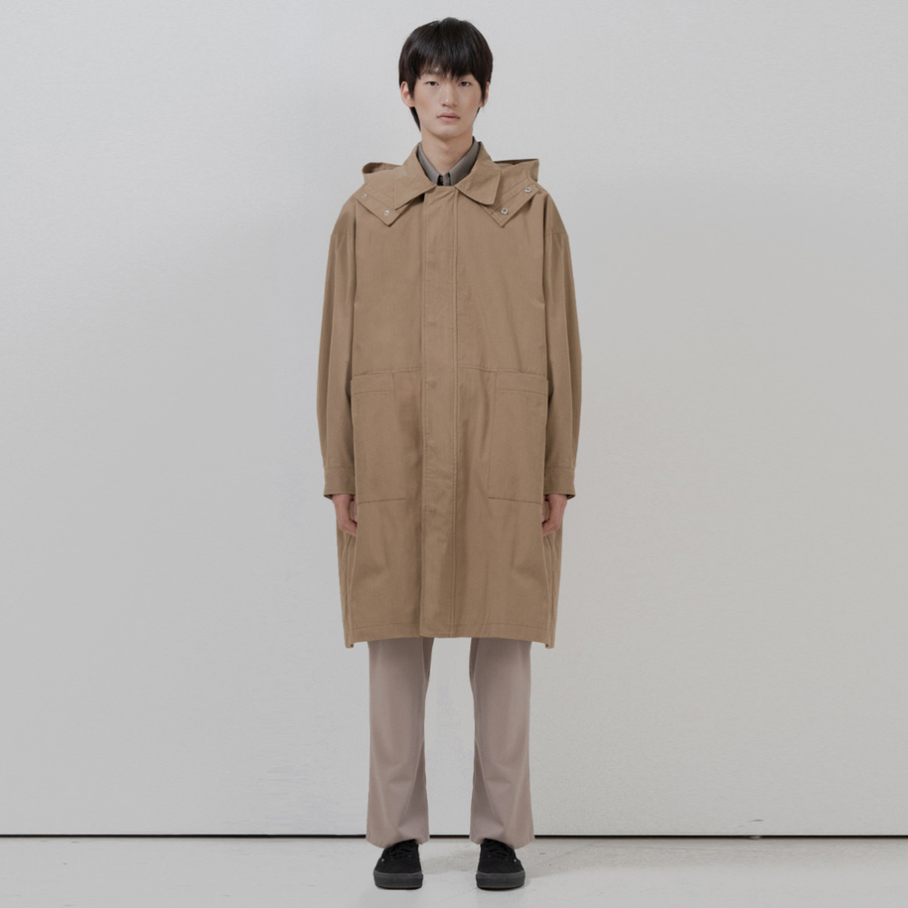 BF utility hood coat beige