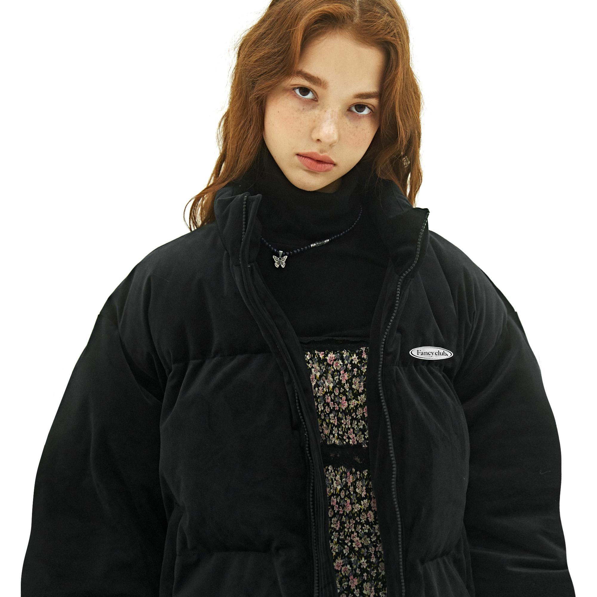 [단독할인]팬시 나비 벨벳 패딩 자켓 (블랙)(20FW-F606)