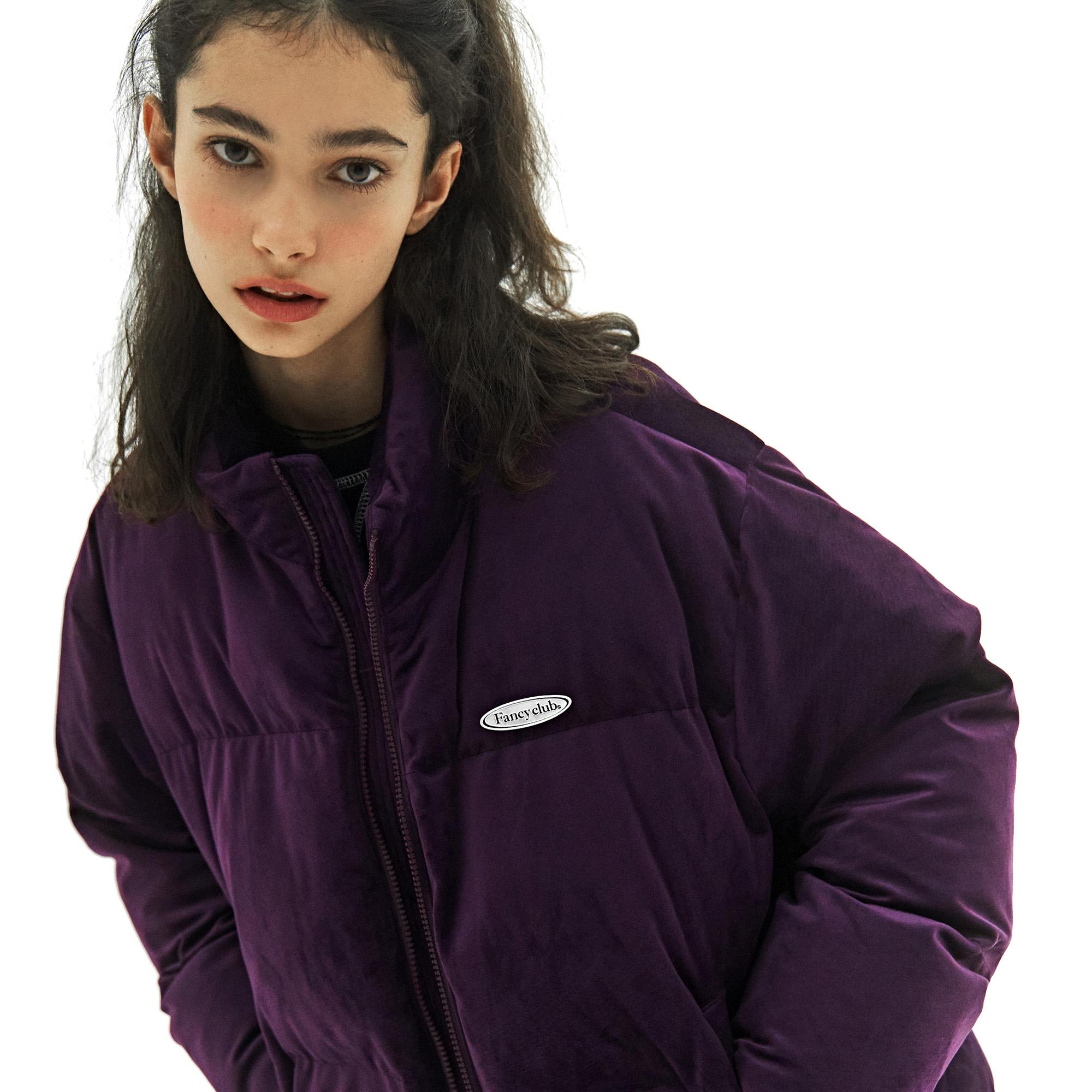 팬시 나비 벨벳 패딩 자켓 (퍼플)(20FW-F606)