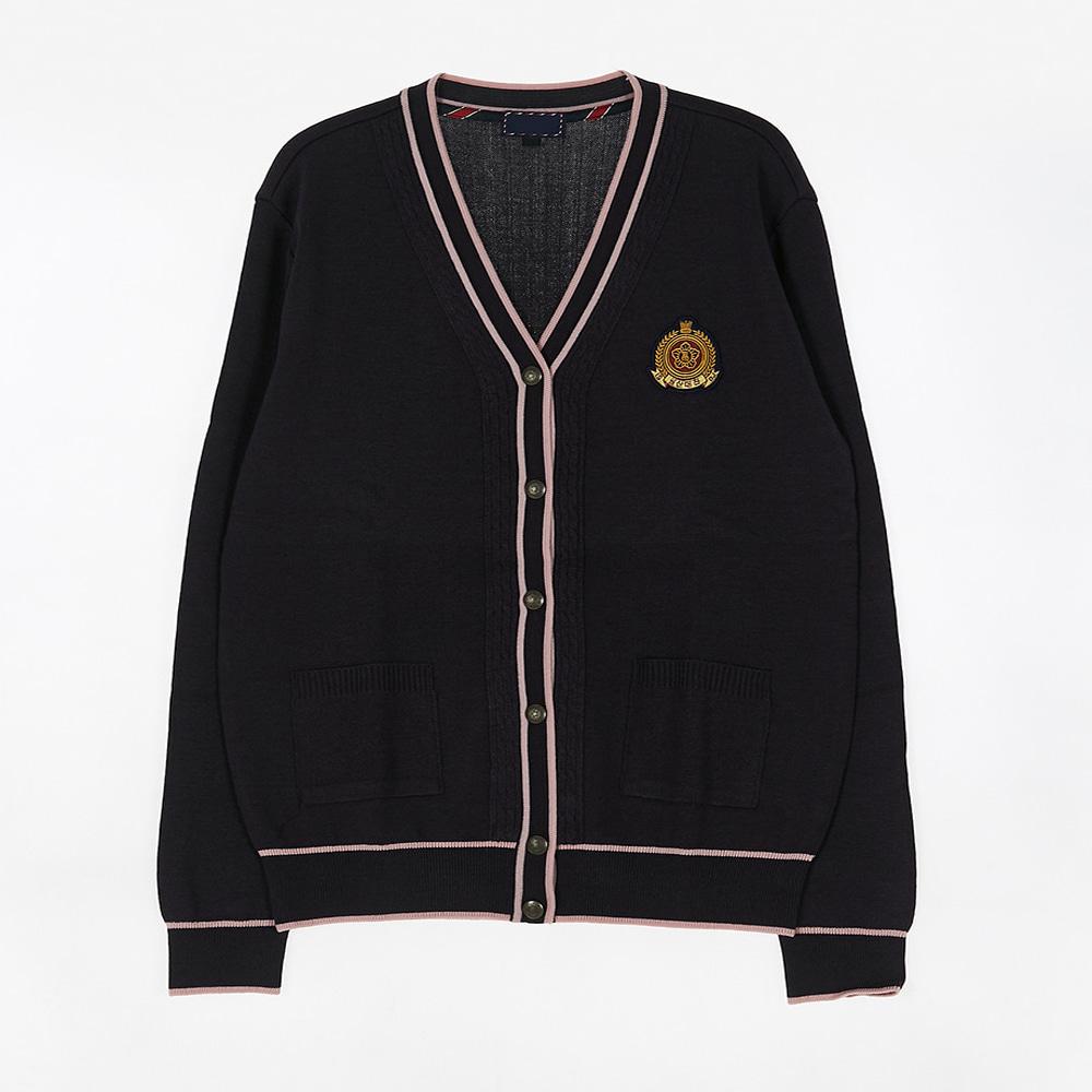 [교복아울렛] 핑크 라인 가디건 (일산대진고) 교복