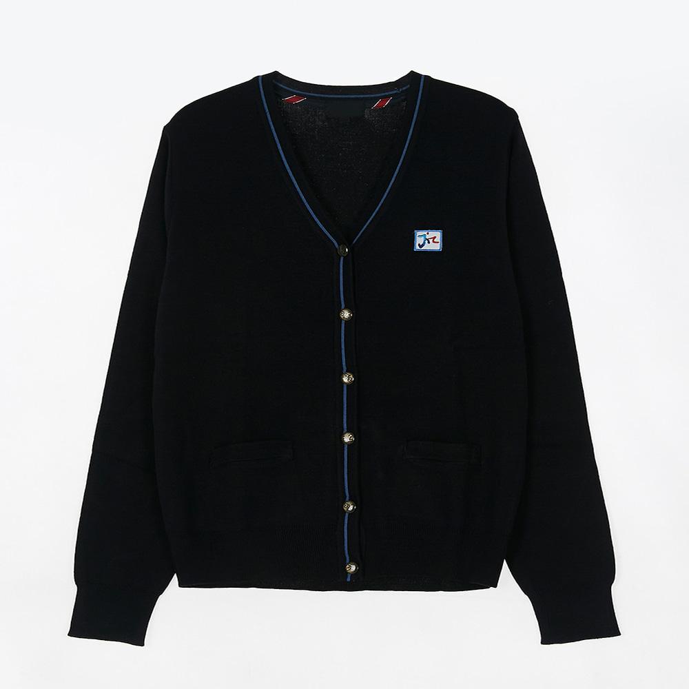 [교복아울렛] 블루 라인 골드 단추 가디건 (문정고)
